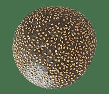 Briochebol zwart sesam 80g