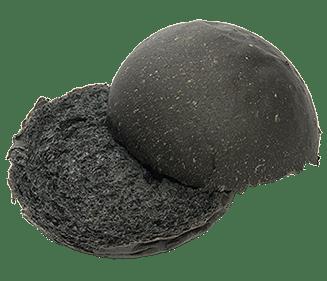 Briochebol zwart 80g